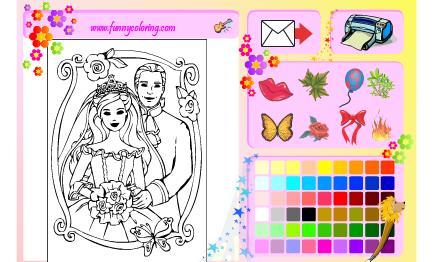 العاب بنات تلوين عروسة