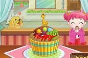 لعبة طبخ كعكة عيد الحب