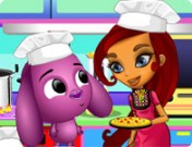 لعبة تلبيس الطباخة ملابس الطبخ