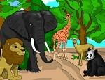 لعبة تلوين حيوانات الغابة