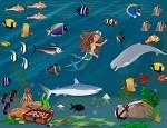 لعبة ترتيب الاسماك و حورية البحر