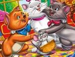 لعبة تلوين القطة ارستو