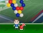 لعبة كرة القدم الملونة