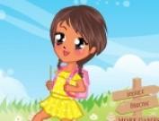 لعبة تلبيس البنوتة الصغيرة في طريقها الى المدرسة