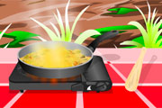 لعبة طبخ الدجاج بجوز الهند