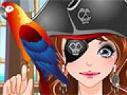 لعبة مكياج بنت القرصان