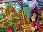 لعبة تلوين بيتر بان و القرصان