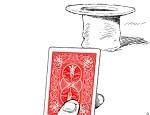 لعبة رمي الورق فيب القبعة